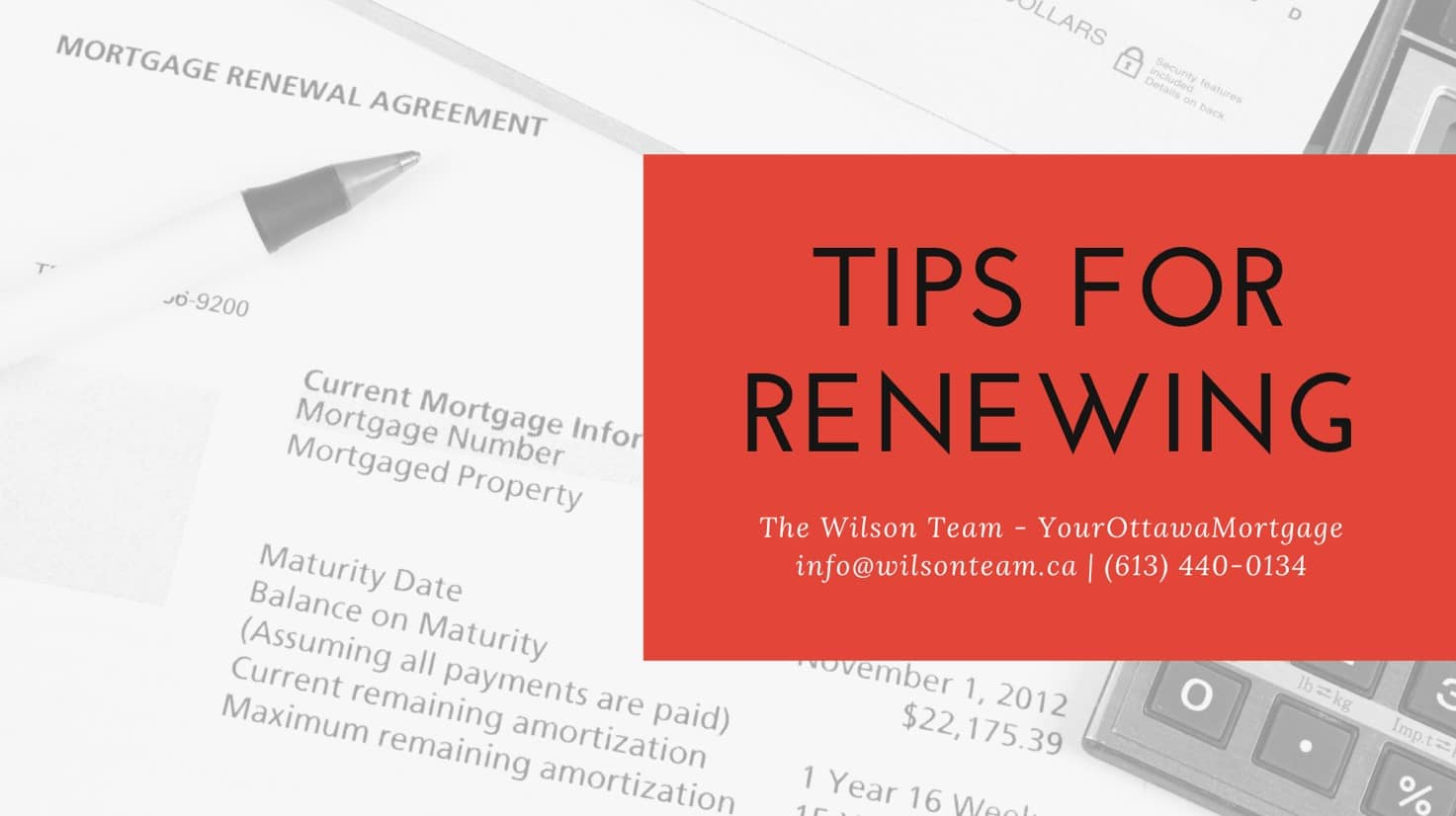 Ottawa Mortgage | Tips for Renewing Your Mortgage